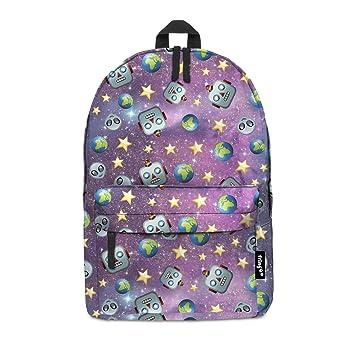 f7ae77da8889 Fringoo® EMOJI ROBOT GALAXY Girls Boys Kids Backpack School Bag Rucksack  Daypack Travel Hand Luggage Emoji Hologram Bag (EMOJI ROBOT GALAXY)   Amazon.co.uk  ...