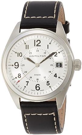 6f6119e14 Image Unavailable. Image not available for. Color: Hamilton Men's H68551753 Khaki  Field Analog Display Swiss Quartz Black Watch