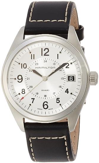 Hamilton Reloj Analogico para Hombre de Cuarzo con Correa en Cuero H68551753: Amazon.es: Relojes