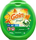 Gain flings! Laundry Detergent Pacs plus Aroma Boost, Island Fresh Scent,