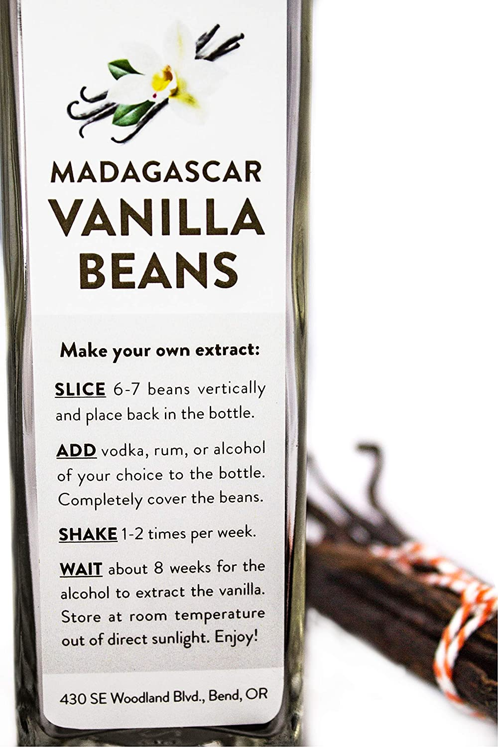 Amazon.com : 6 Madagascar Bourbon Vanilla Beans in Extract Bottle, Grade A Whole Beans for Baking, Extract or Kahlua (6 Madagascar Vanilla Beans) : Grocery ...