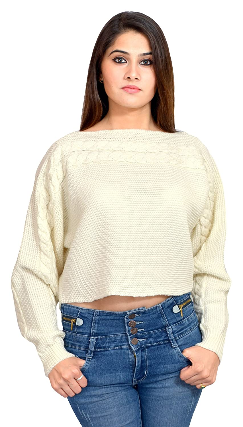 646217833828 Vhitz Women s Acrylic Sweater (PH-AC-NT-100016-002 Large--Large