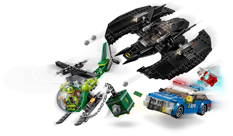 LEGO DC Batman 489 Pieces Batman Batwing and The Riddler Heist 76120 Building Kit