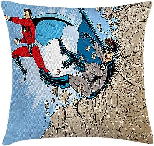 Fodera per cuscino per cuscino da tiro, eroe del libro di