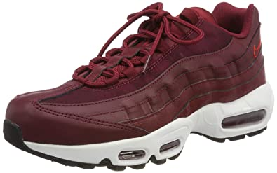 new concept c1419 2836b Nike Air Max 95, Chaussures de Gymnastique Femme, Rouge Team BlackHabanero  Red