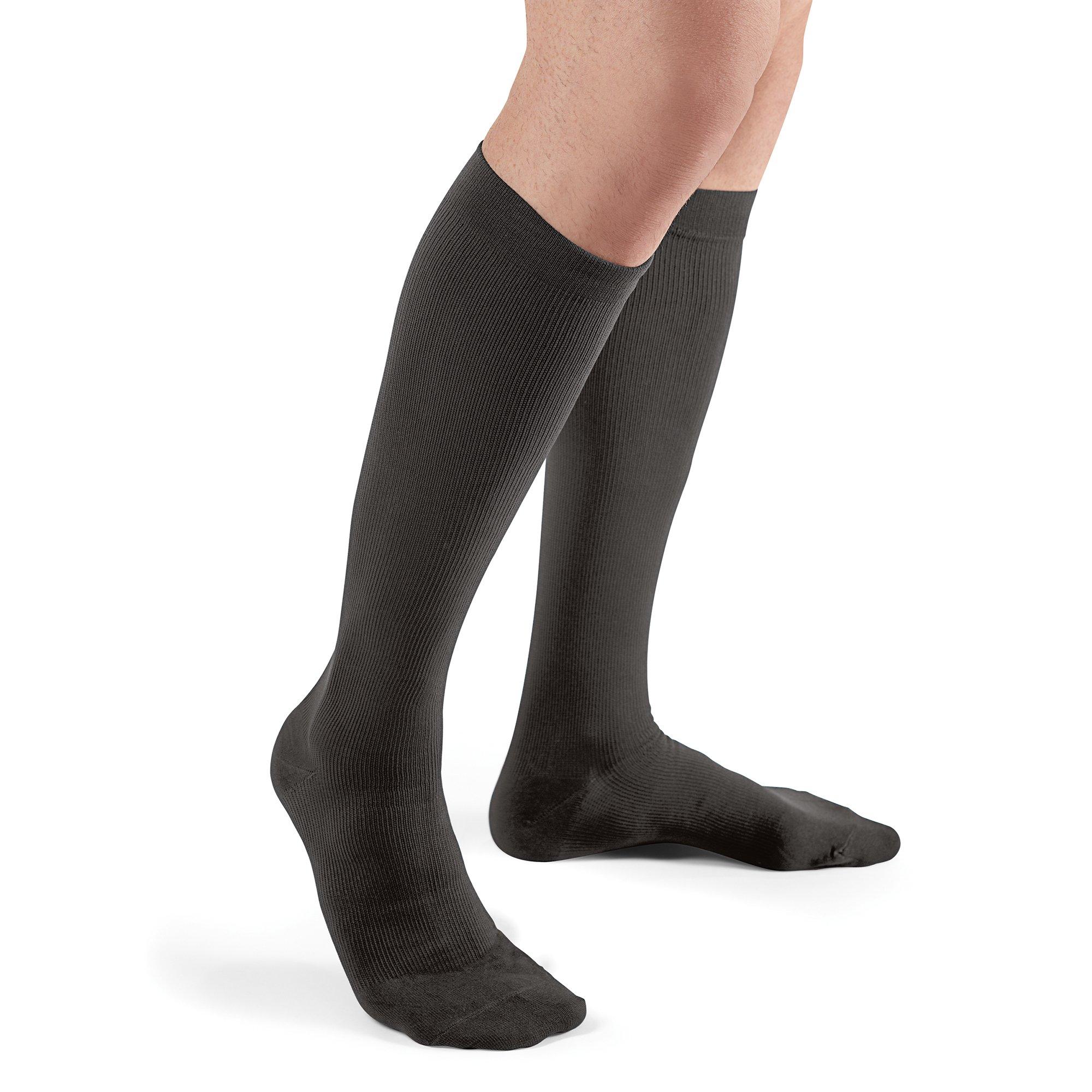 Futuro Restoring Dress Socks for Men, Helps Improve Circulation, Eases Symptoms of Mild Spider Veins, Over the Calf, X-Large, Black, Firm Compression
