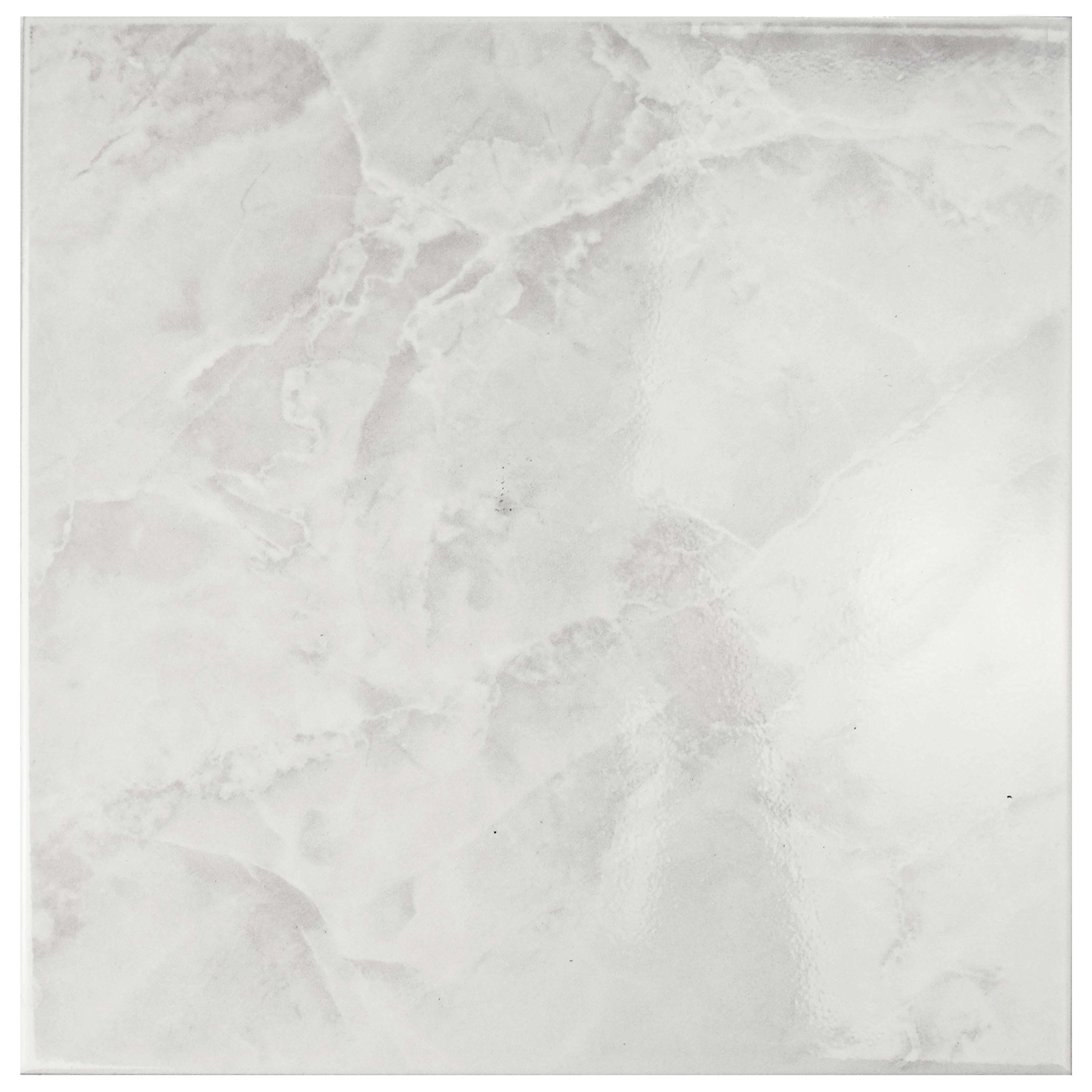 SomerTile FTC12GWH Sigma Ceramic Floor and Wall Tile, 11.75'' x 11.75'', White