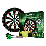 XQ Max Michael van Gerwen 2 cm flocked Dartboard set Darts starter set with board and darts - Black,