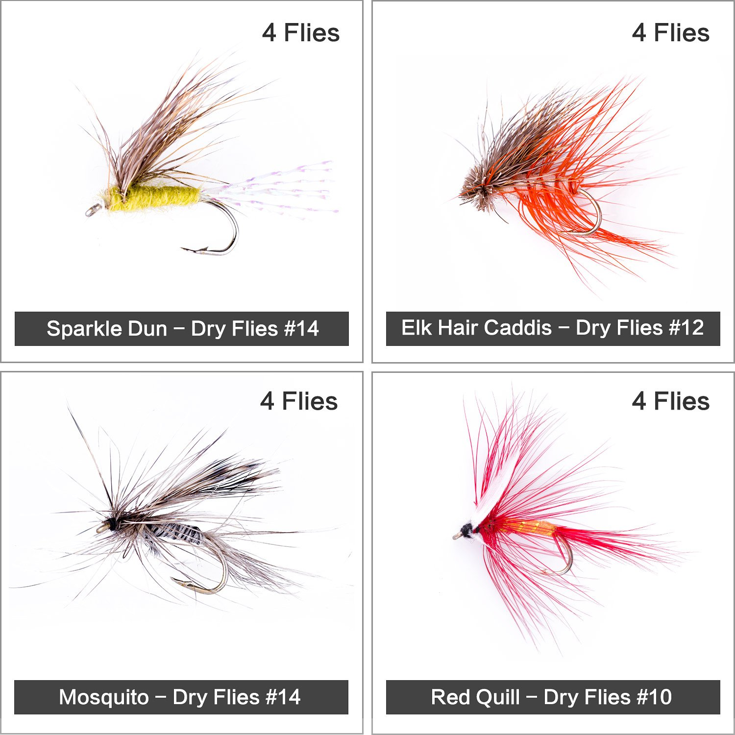 Your Choice of Color Premium Stimulator Dry Fly Fishing Flies Size /& Quantity