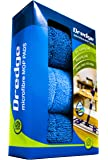 """3-Pack 15.5"""" Drag Resistant Microfiber mop pad Refills for Hardwood Tile Laminate and Stone Floors. Dredge Replacement Pads. Best All in one Multi-Task Reusable Floor Care kit 