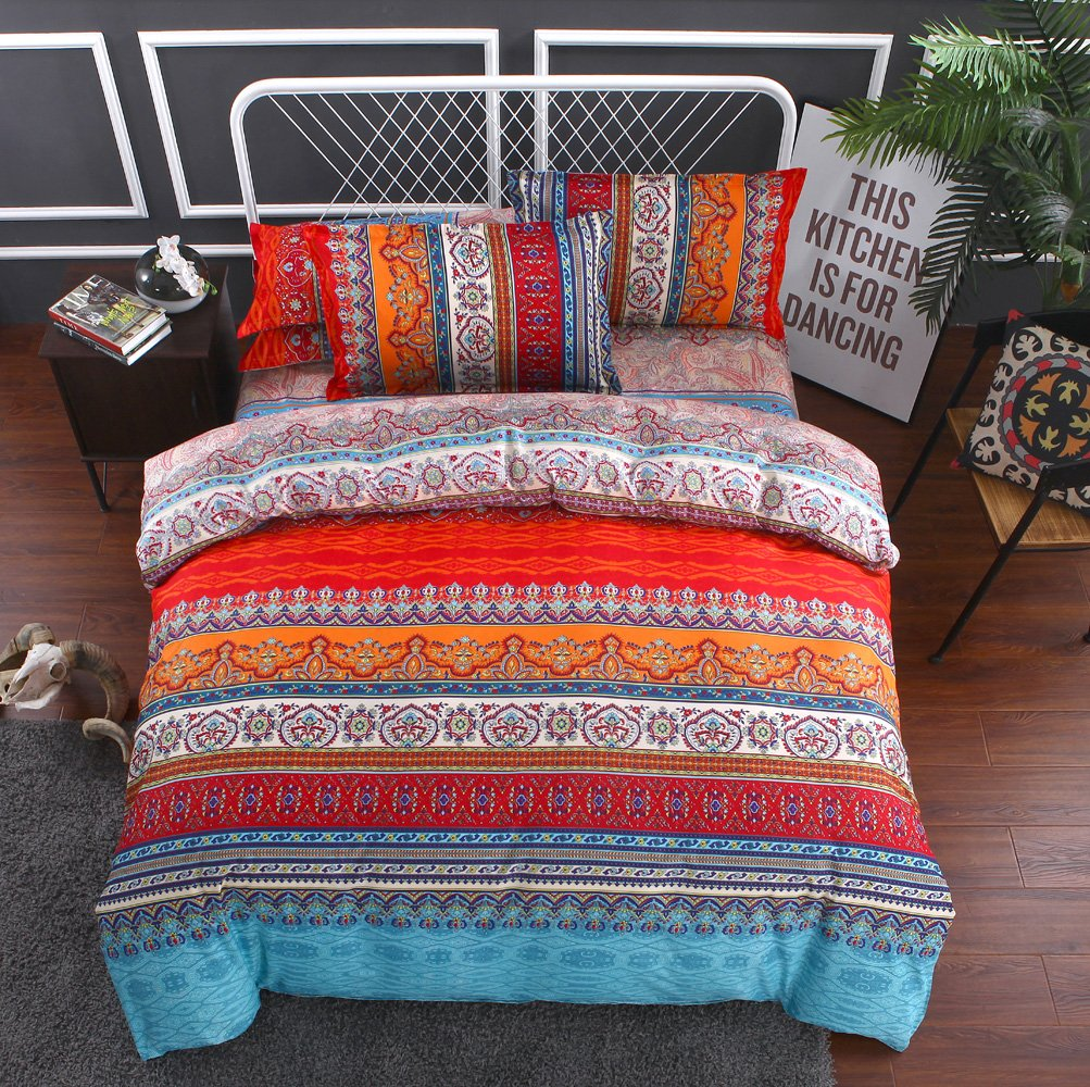 3D Boho Printing Bohemian Printed Mandala 100% BRUSHED MICROFIBER Bedding 3pc Duvet Cover Sets Full size - Click Image to Close