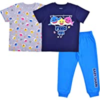 Nickelodeon Baby Shark Boy's 3-Piece Feed Me! T-Shirt and Jogger Pant Set
