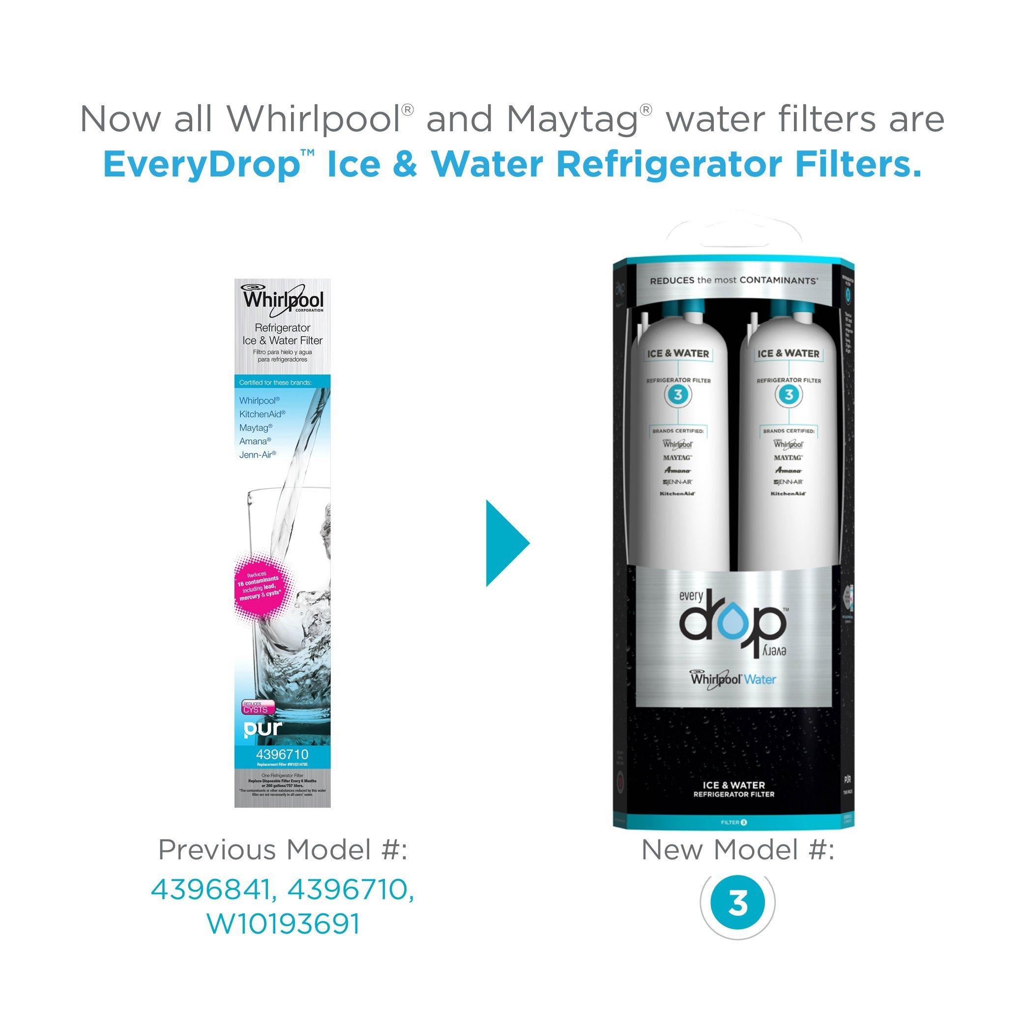 EveryDrop by Whirlpool Refrigerator Water Filter 3 (Pack of 2) by EveryDrop by Whirlpool (Image #2)