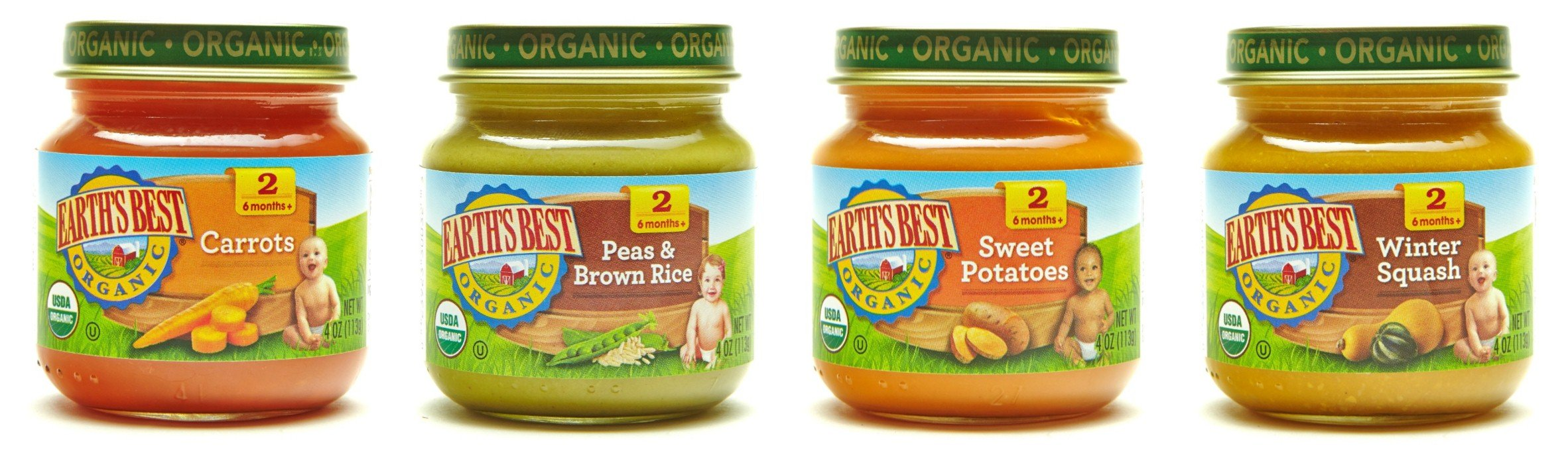 Earth's Best Organic Stage 2, Very Veggie Variety Pack, 4 Ounce Jar (Pack of 12)