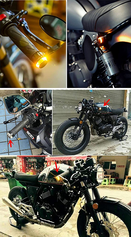 SFONIA 2pcs Intermitentes Moto Indicadores Luces de Se/ñal de Giro 12V Impermeable Universal para Moto Scooter Quad Cruiser Off Road