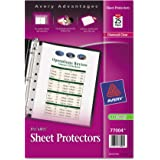 Avery 77004 Top Load Sheet Protector, Heavyweight, 8 1/2 x 5 1/2, Clear (Pack of 25)