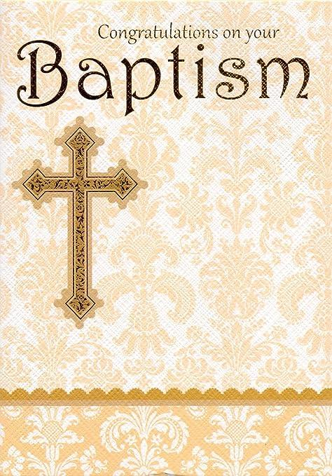 congratulations on your baptism congratulations card amazon co uk