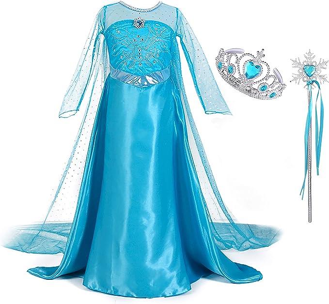 Elsa Eiskönigin Handschuhe Kostüm Verkleidung Karneval Kindergeburtstag Glitzer