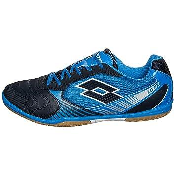 Lotto Tacto II 500Indoor chaussures de football pour homme, Bleu/bleu foncé
