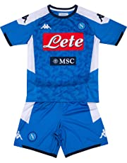 SSC Napoli, Kit Gara Home Bambino 2019/2020, Blu, 8 anni