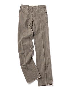 Glen Plaid Cotton Trousers 113-37-0011: Charcoal