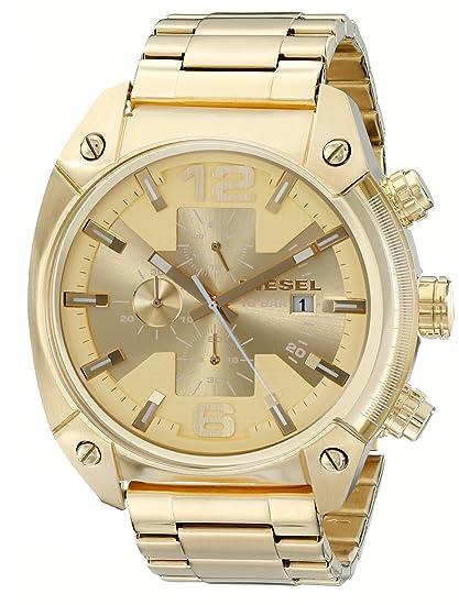 Diesel DZ4299 - Reloj de Pulsera Hombre, Revestimiento de Acero Inoxidable, Color Dorado: Diesel: Amazon.es: Relojes