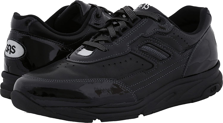 SAS Women's Tour lace up Active comfort shoe B01M4NWQU8 9 N - Narrow (AA) US|Black Patent