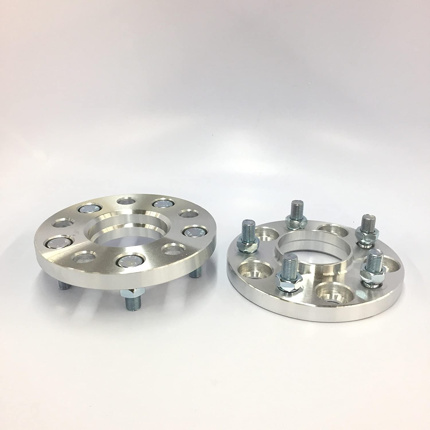 2 Pieces 0.59 15mm Hub Centric Wheel Spacers Bolt Pattern 5x114.3 5x4.5 Center Bore 66.1mm Thread Pitch 12x1.25 Studs For Infiniti G35 G37 Nissan 240sx 350z 370z 300zx