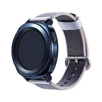 Gosuper para Samsung Gear Sport Correa,Fine Nylon Tejido Ajustable Deporte Rápido Lanzamiento Replacement Bracelet para Samsung Gear S2 Classic Smart ...