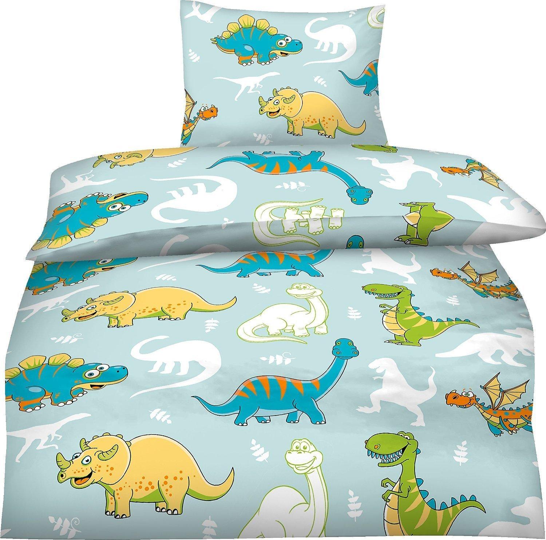 Bettwäsche Kinder 100x135 Dinosaurier: Amazon.de: Küche & Haushalt