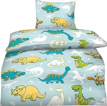 Bettwasche Kinder 100x135 Dinosaurier Amazon De Kuche Haushalt