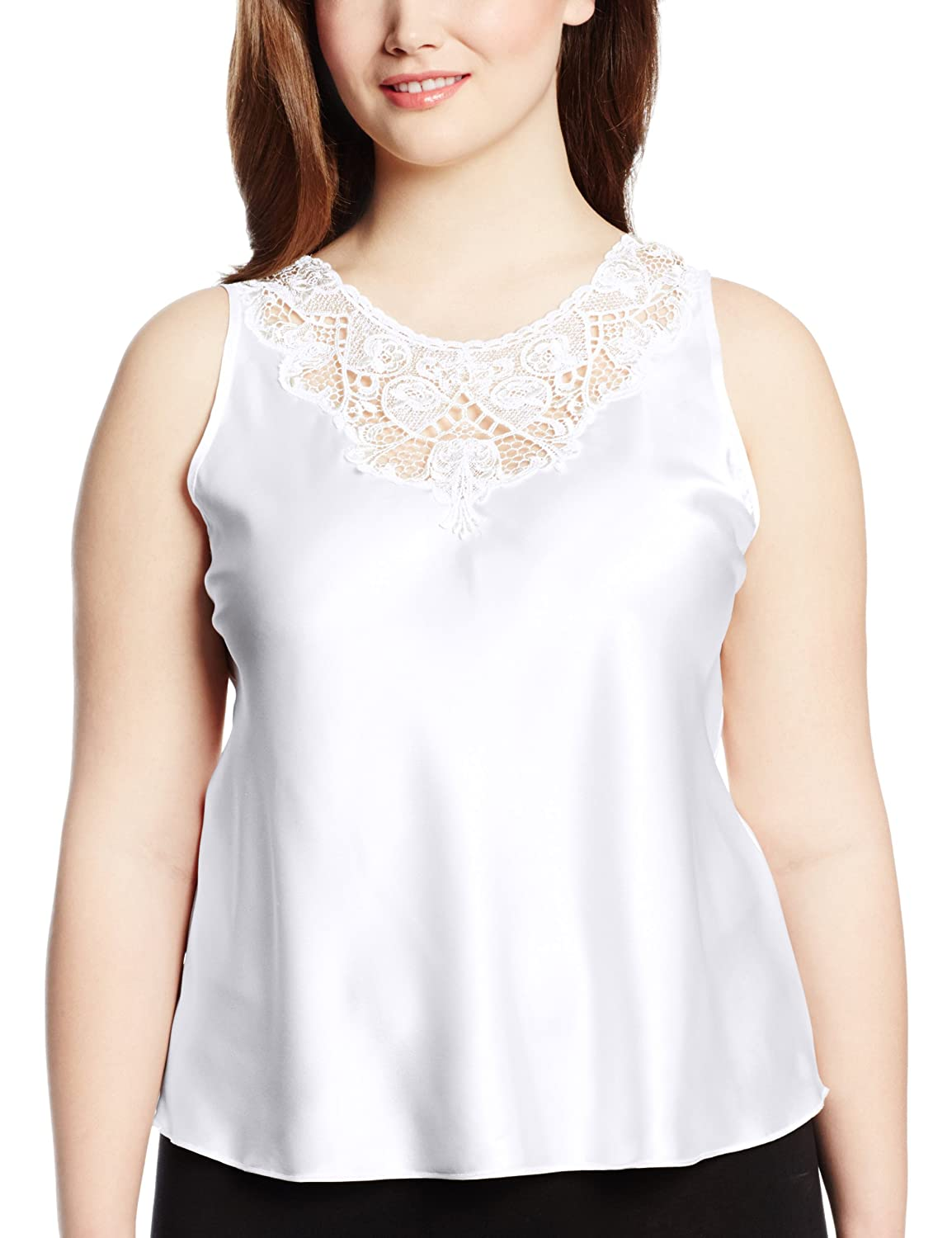 Cinema Etoile womens plus-size Plus Size Charmeuse Camisole With Medallion Lace Cinema Etoile Women's IA 640107X