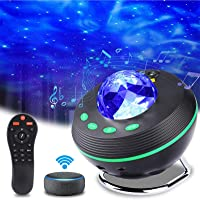 Aled Light Projectorlamp met sterrenhemel, led-nachtlampje, sterrenhemel, met afstandsbediening, bluetooth, muziekster…