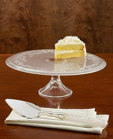 Amazon Com Lenox Bellina Crystal Wedding Cake Server Flatware