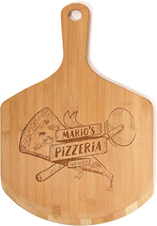Custom Laser Engraved Wooden Pizza Peel