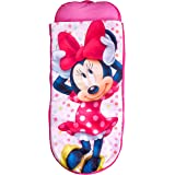 ReadyBed Disney Minnie Mouse Junior Kids Airbed and Sleeping Bag in one, Polyester Pink, 75 x 75 x 90 cm