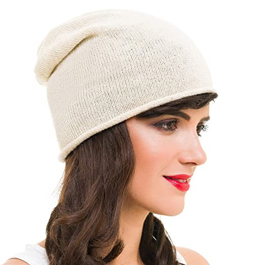 MELIFLUOS DESIGNED IN SPAIN Beanie for Women Solid Color Hat Skull Skully  Cap Toboggan Fashion Knit 93bfee45131