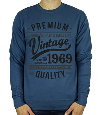 9bad28657 1969 Vintage Year - Aged to Perfection - 50th Birthday Gift/Present Mens  Sweatshirt: Amazon.co.uk: Clothing