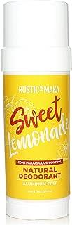 product image for Rustic MAKA Natural Deodorant, Sweet Lemonade, Aluminum Free, Paraben Free, Odor-Neutralizing, Orange + Lemon, Vegan, Cruelty-Free