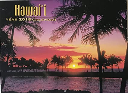 2018 hawaiian calendar 12 month hawaii all island scenes