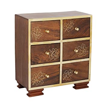 Amazoncom Christmas Gifts Wooden Armoire Chest of 6 Drawers Small