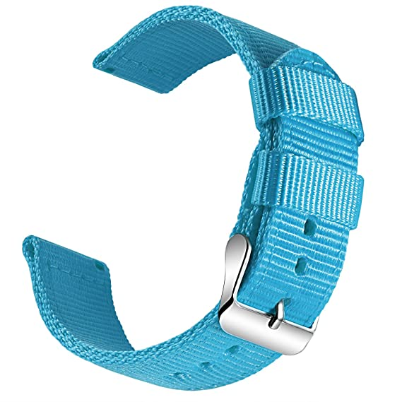 OLLREAR Canvas Watch Strap Replacement Woven Fabric Watch Band -13 Colors & 4 Sizes