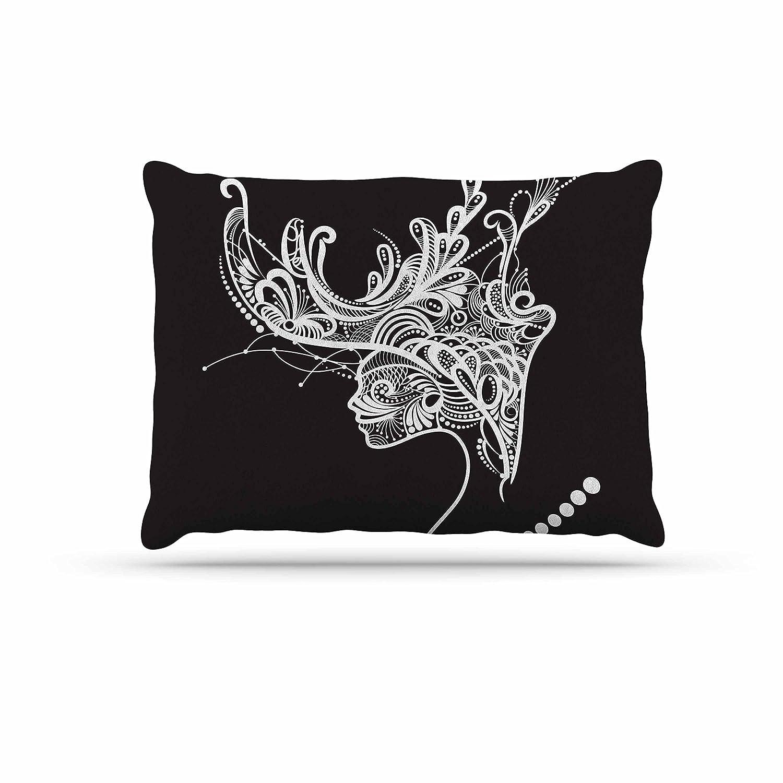 KESS InHouse Maria Bazarova Loneliness Beige People Dog Bed, 50  x 40