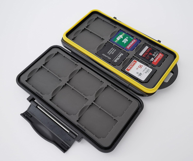New Edition 2017 Ares Foto/® MC-SD6CF3 Caja de protecci/ón de tarjeta de memoria para 3 Compact Flash Cards y 6 SD Cards