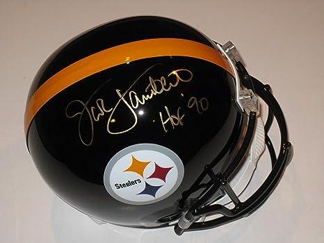 03b2943e0f3 Jack Lambert HOF 90 Autographed Signed Pittsburgh Steelers Full Size  Replica Helmet - JSA COA