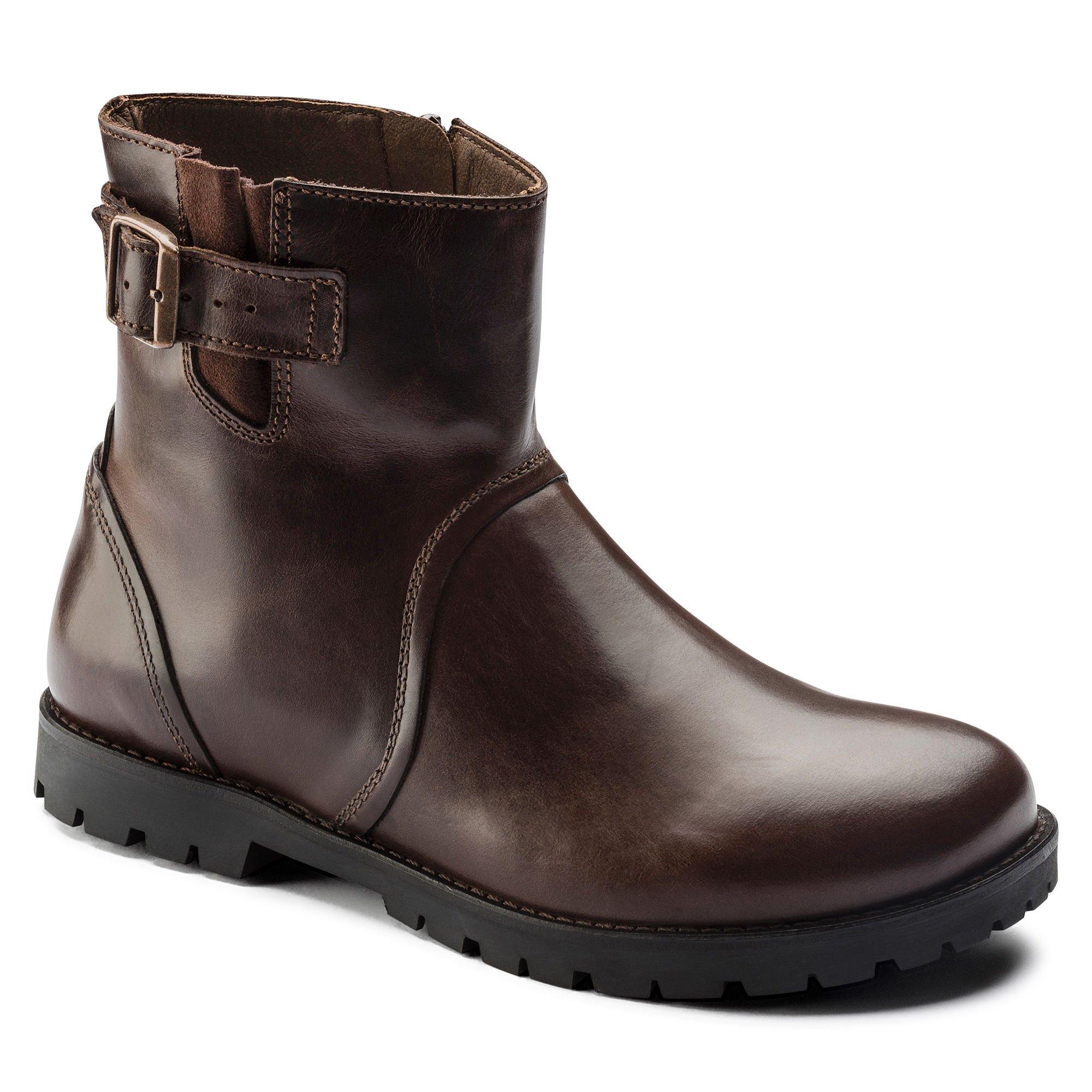 Birkenstock Women's Stowe Boot Espresso Leather Size 40 M EU