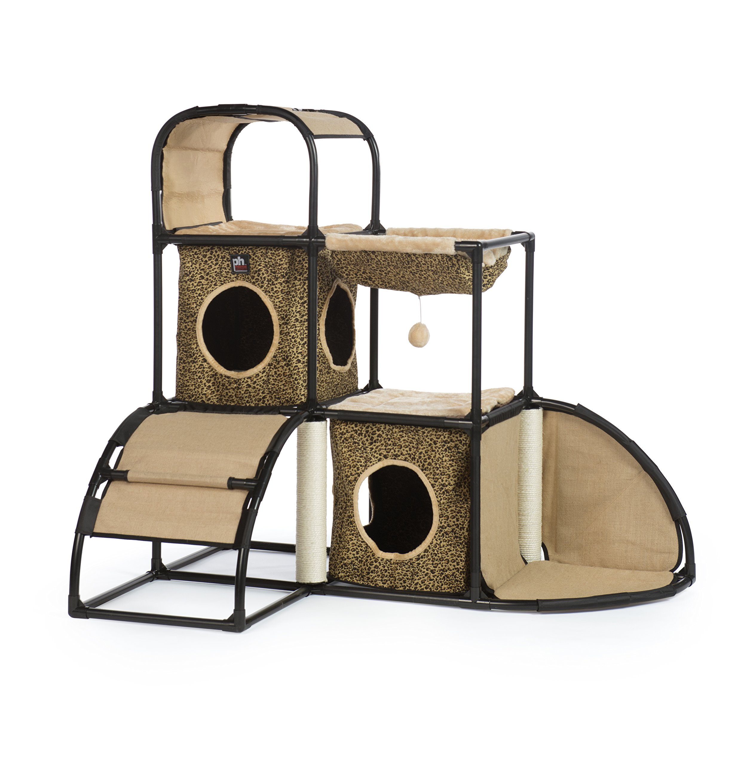 Prevue Pet Products Catville Townhome, Leopard Print