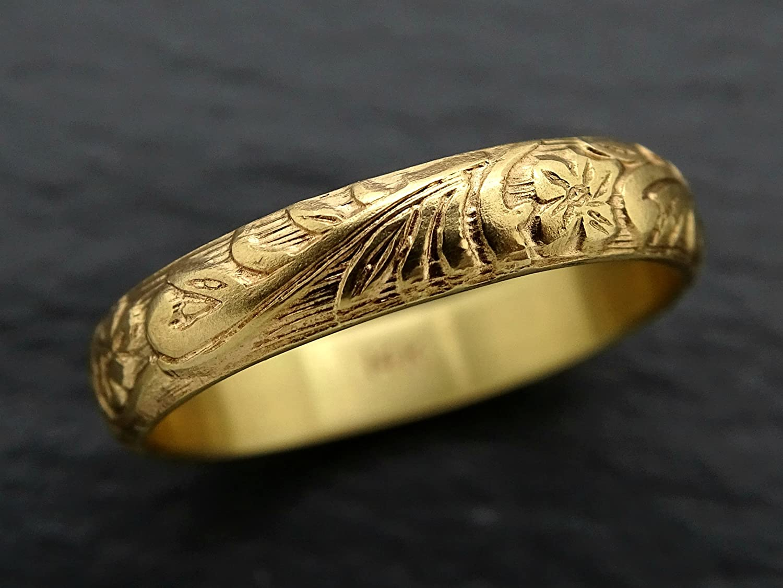Amazon Com Pagan Wedding Band Women Medieval Wedding Ring