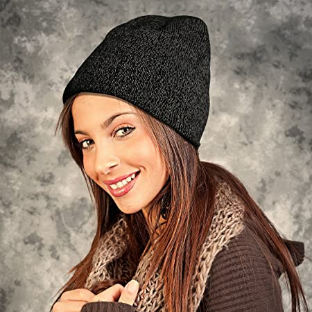 9583336c9af Amazon.com   EZGO Warm Reflective Knitted Winter Beanie Hat