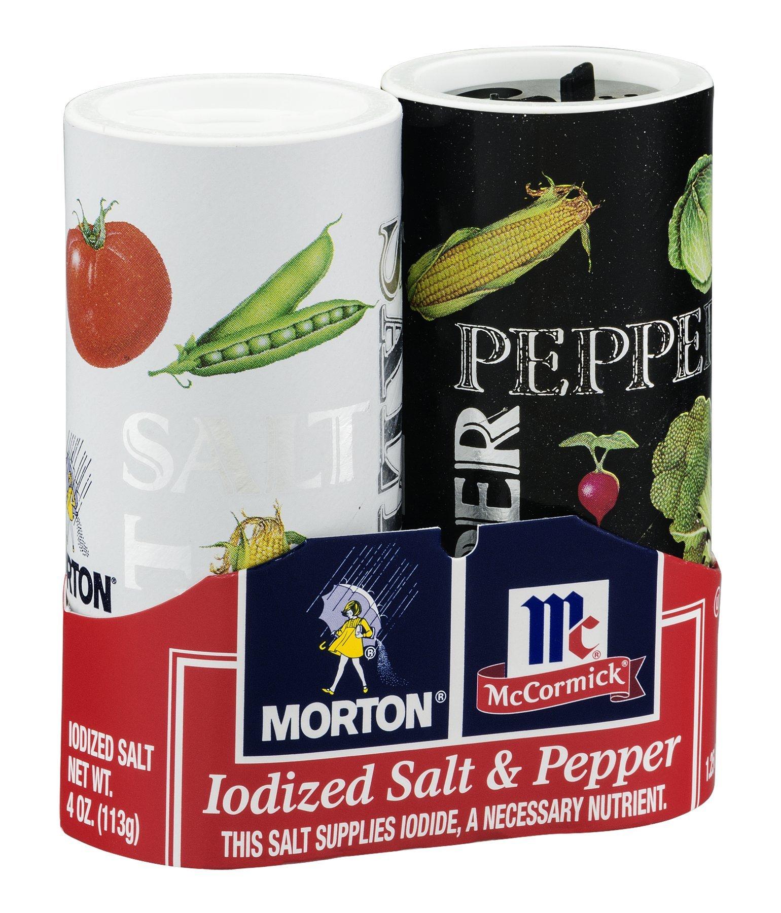 Morton McCormick Iodized Salt & Pepper, 5.25 OZ (Pack of 12)